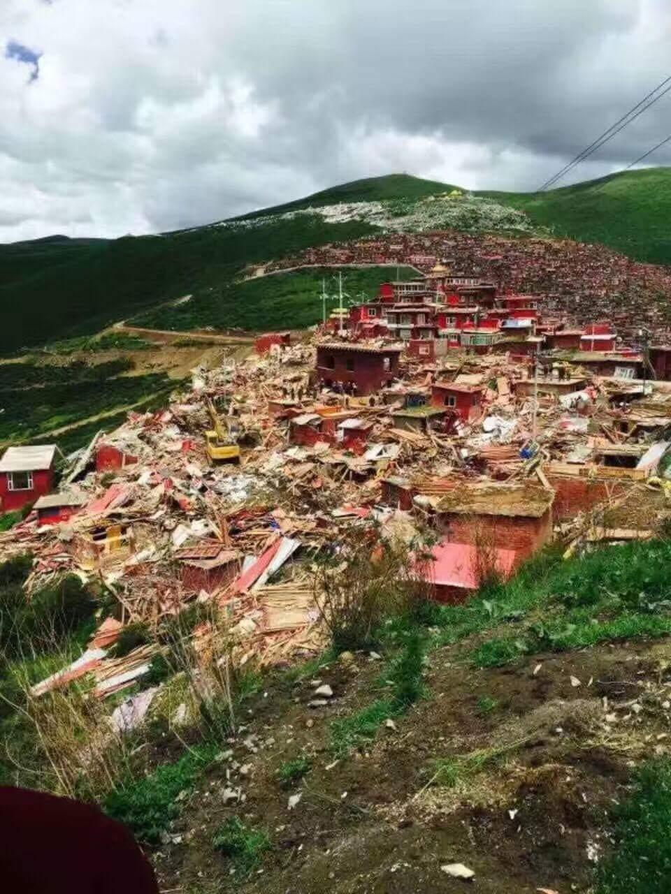 Destruction at Larung Gar