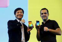 Xiaomi\'s Lei Jun and Hugo Barra