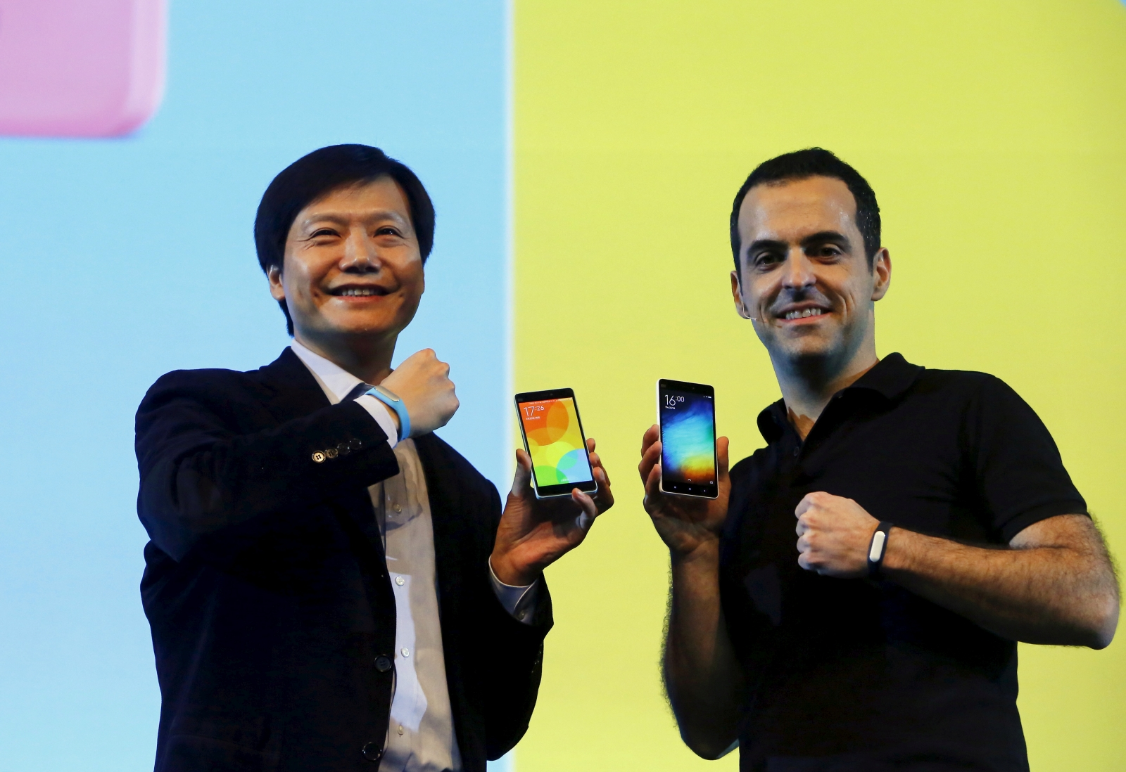 Xiaomi's Lei Jun and Hugo Barra