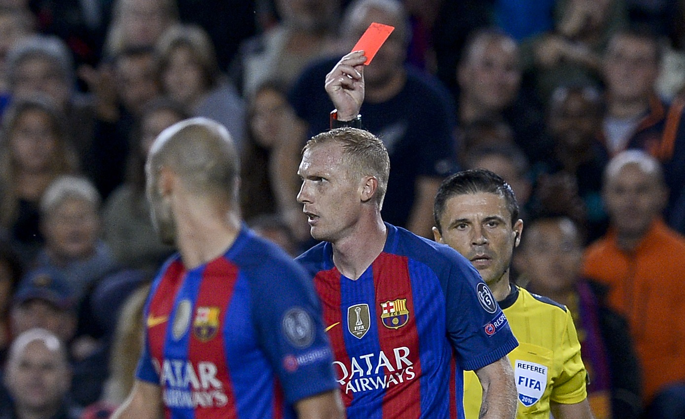 Image result for jeremy mathieu red card