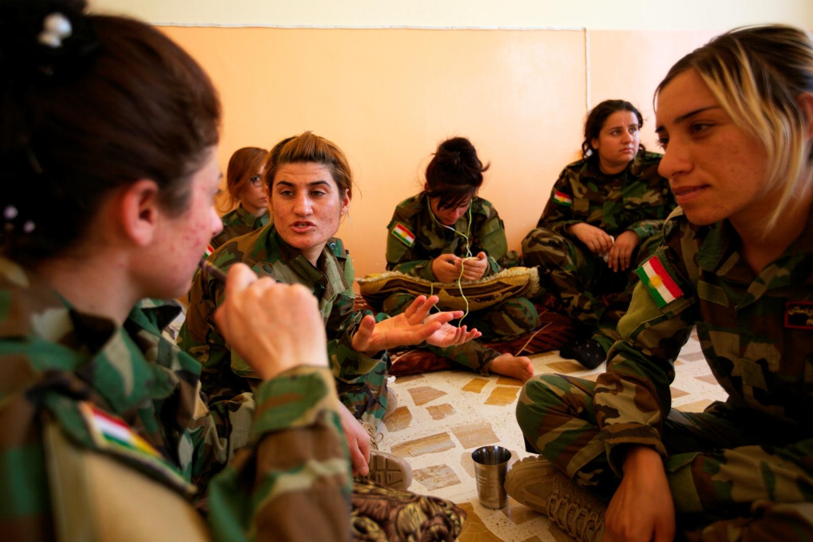 Yazidi women soldiers