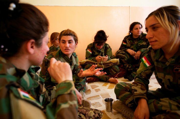 Yazidi women soldiers