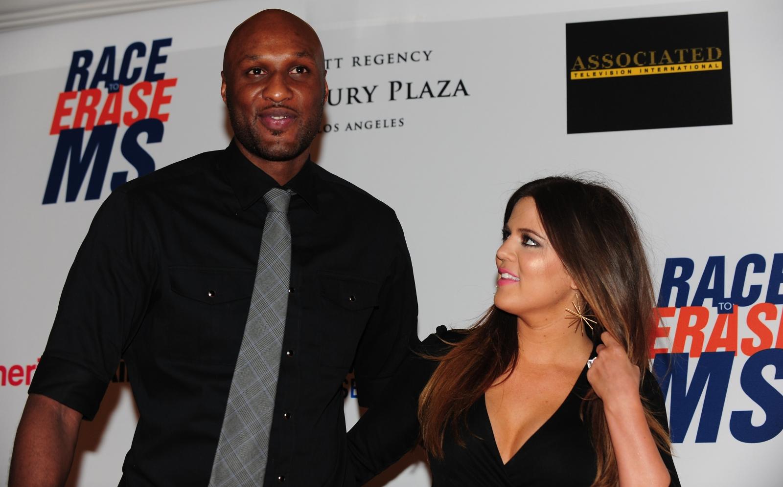 Lamar Odom and Khloe Kardashian