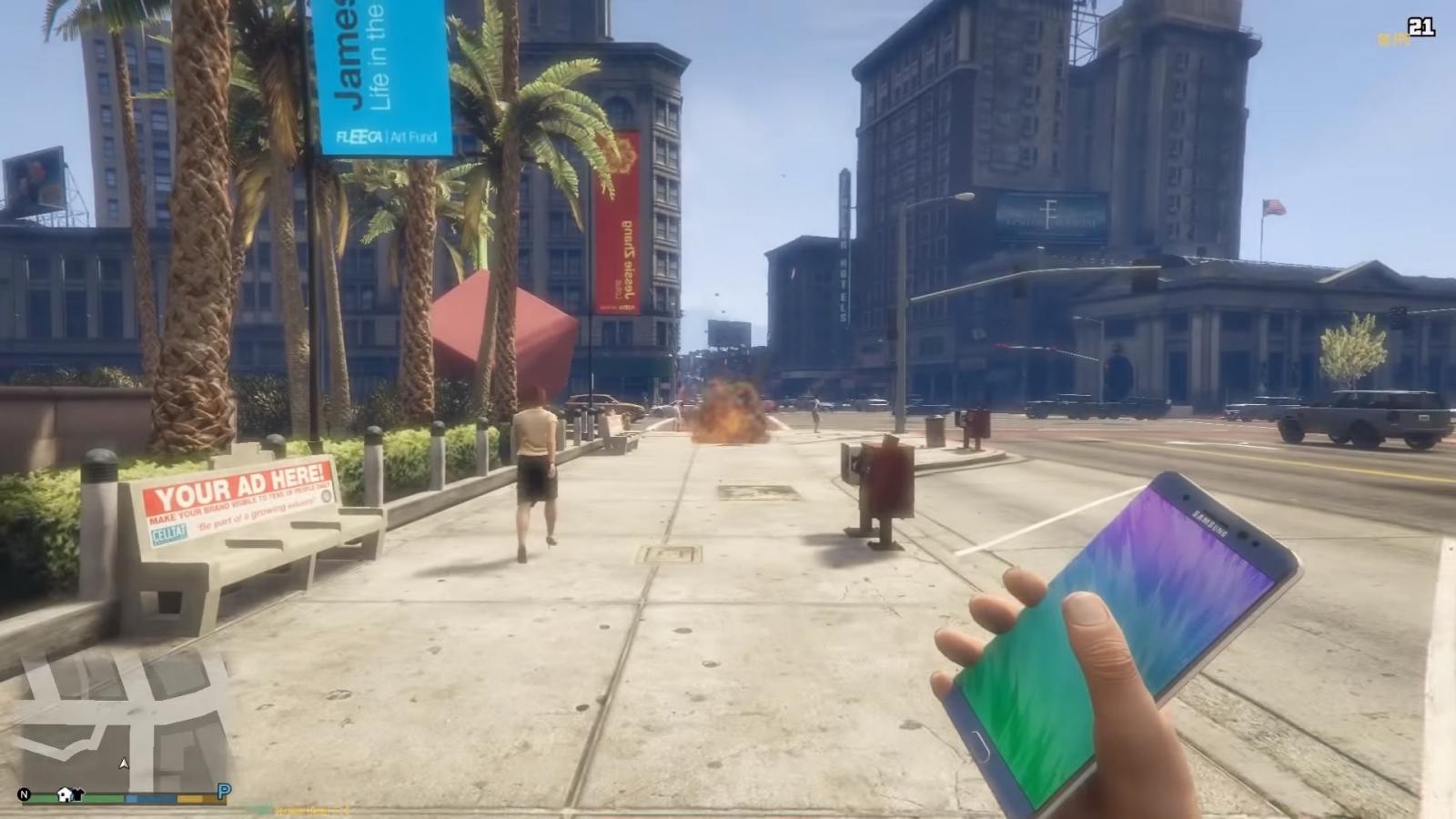 Grand Theft Auto Note 7 mod