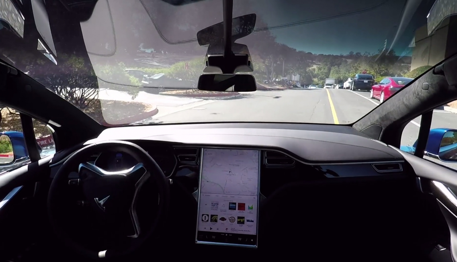 Self-driving Tesla Model X