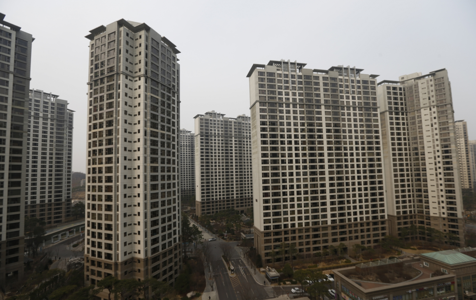 High-rise apartment buildings in Seoul, South Korea