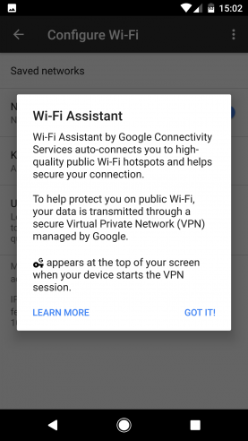 Google Pixel Wi-Fi Assistant