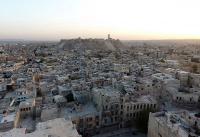 Aleppo air strikes cease fire russia