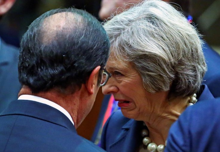 French President Francois Hollande and British Prime Minister Theresa May