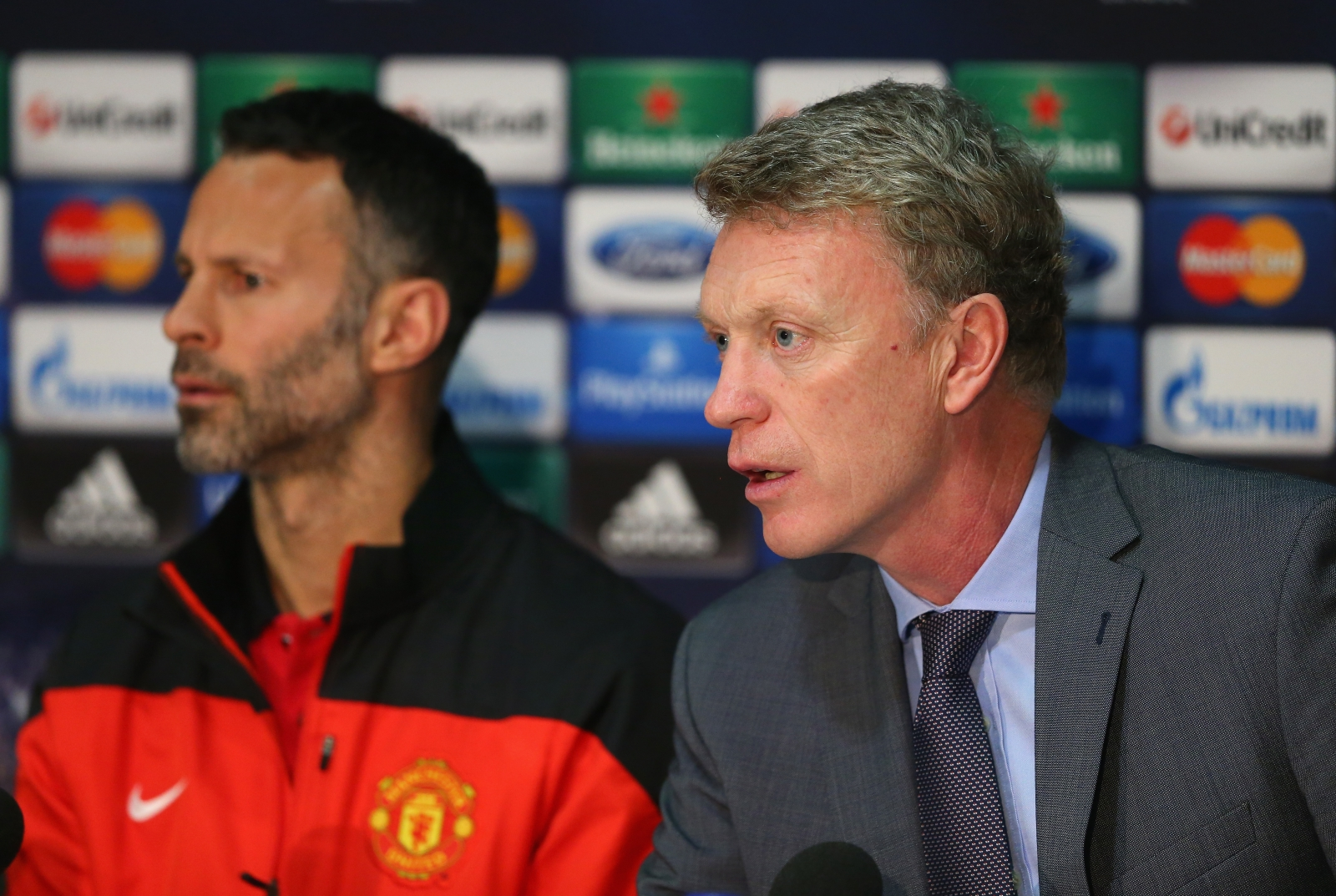 Ryan Giggs (left) and David Moyes