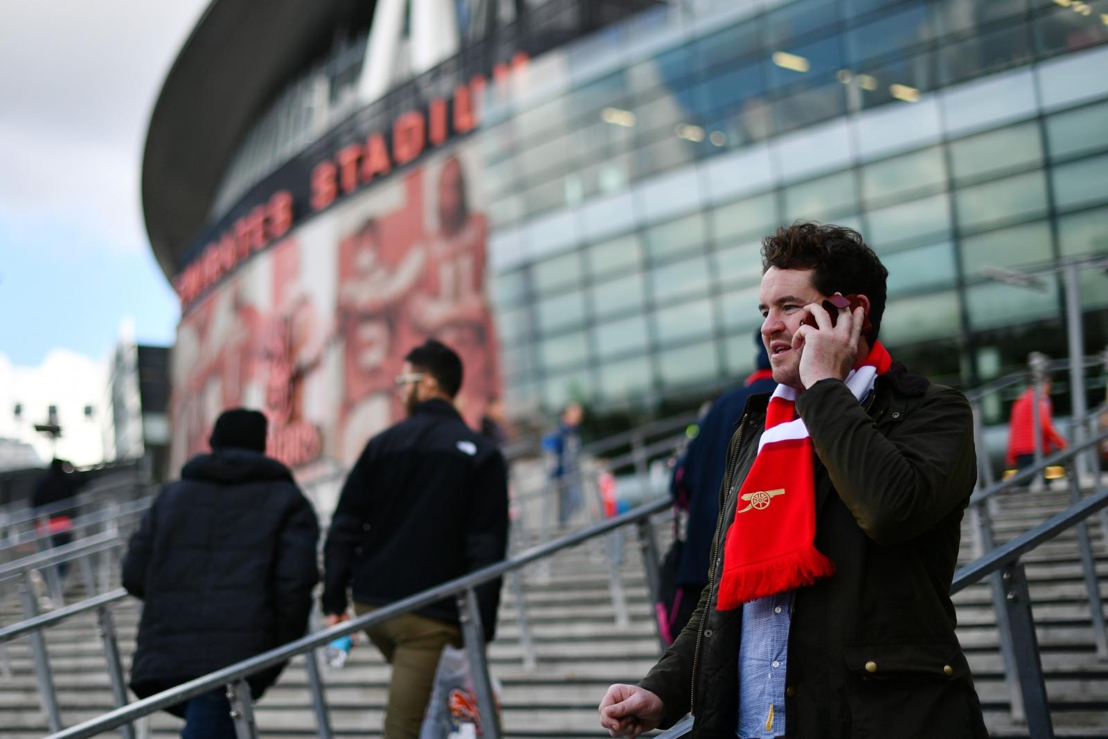 An Arsenal fan before kick-off