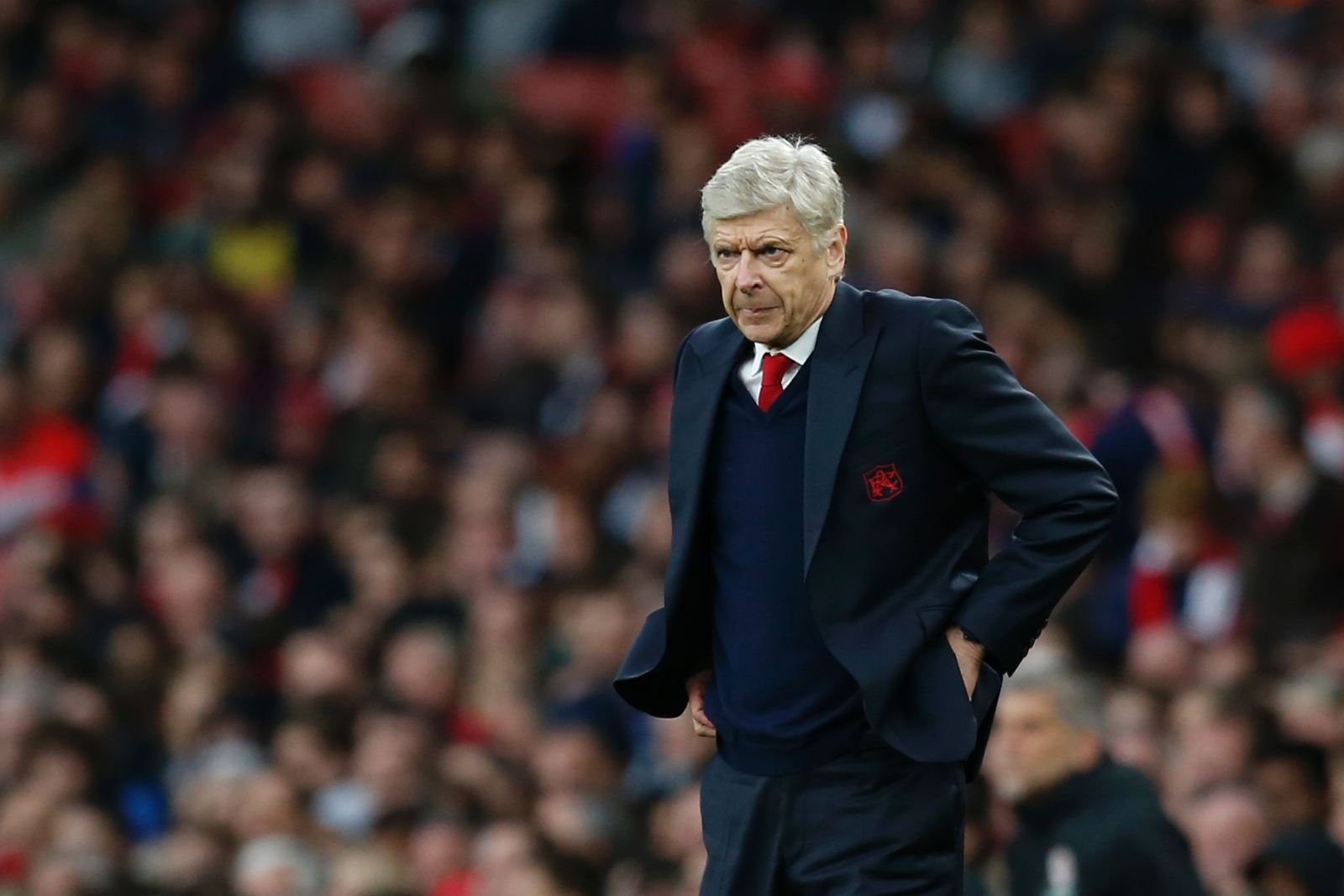 Arsene Wenger looks frustrated on the touchline