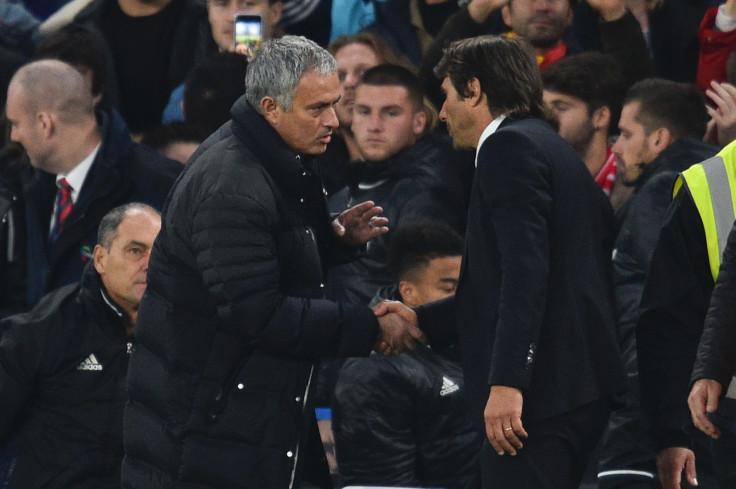 Jose Mourinho and Antonio Conte