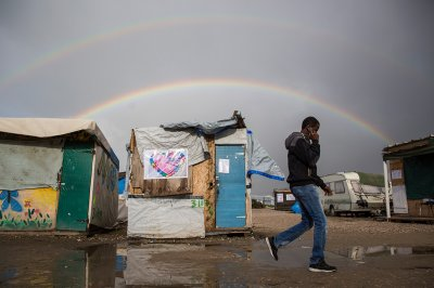 Calais Jungle camp refugees migrants
