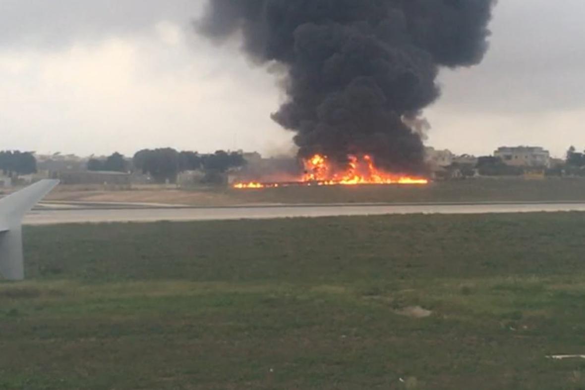 malta plane crash