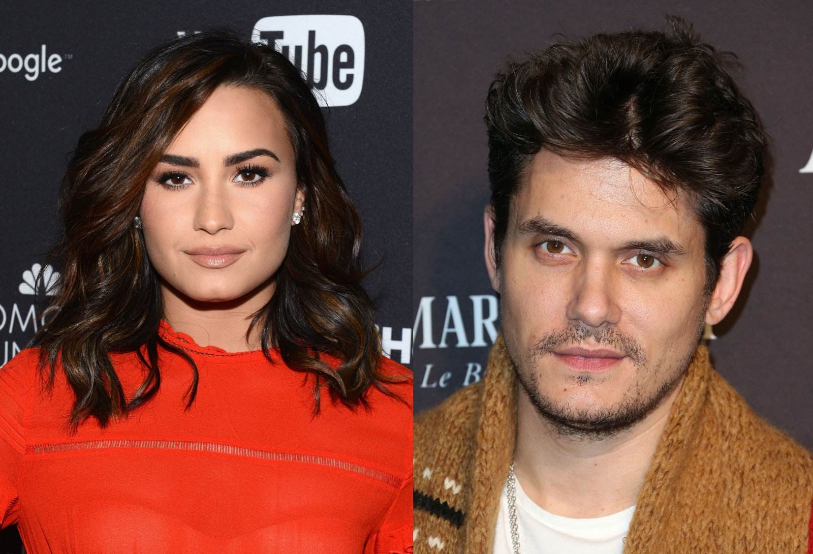 John Mayer and Demi Lovato