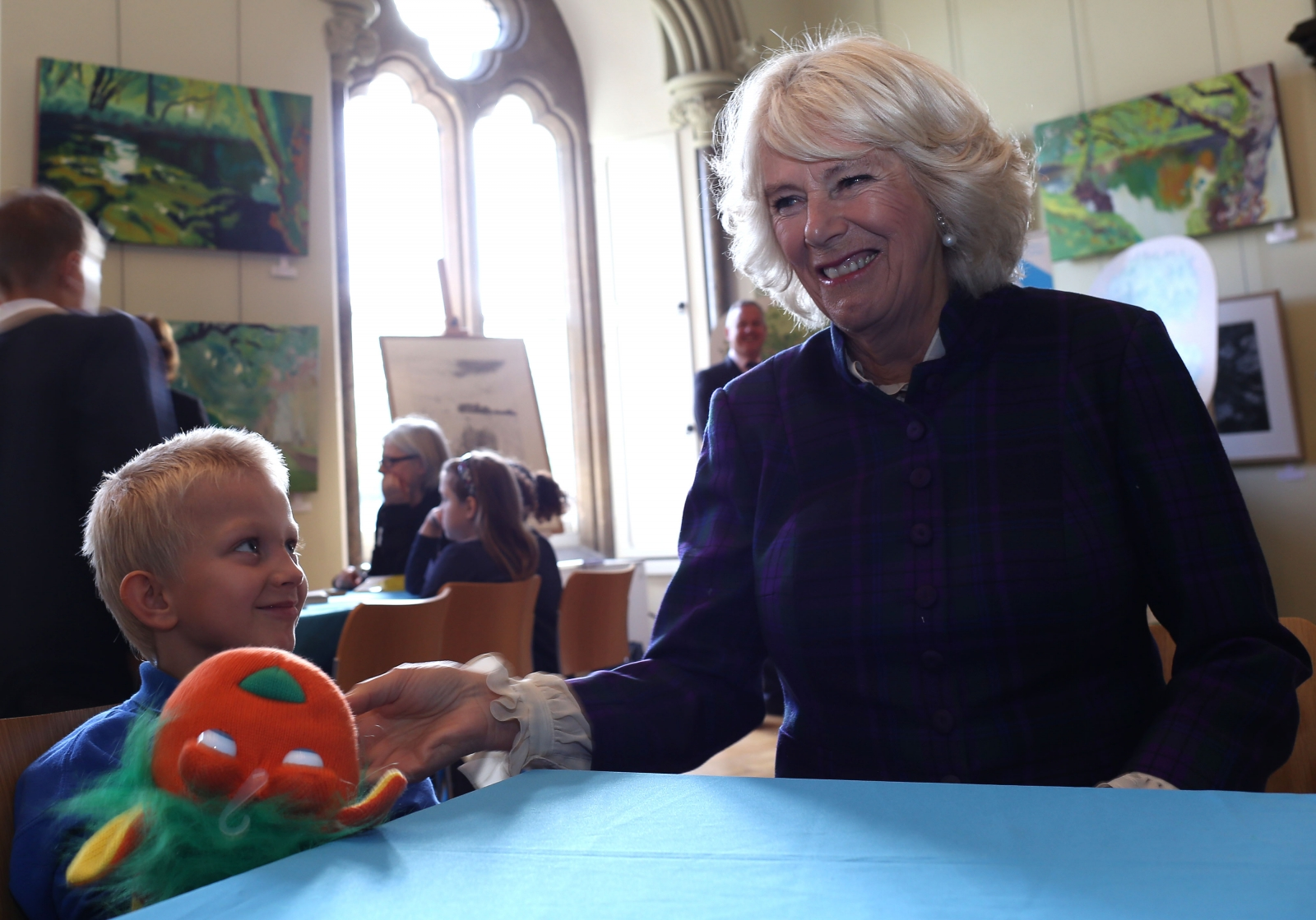 Duchess of Cornwall at Wells Literature Festival