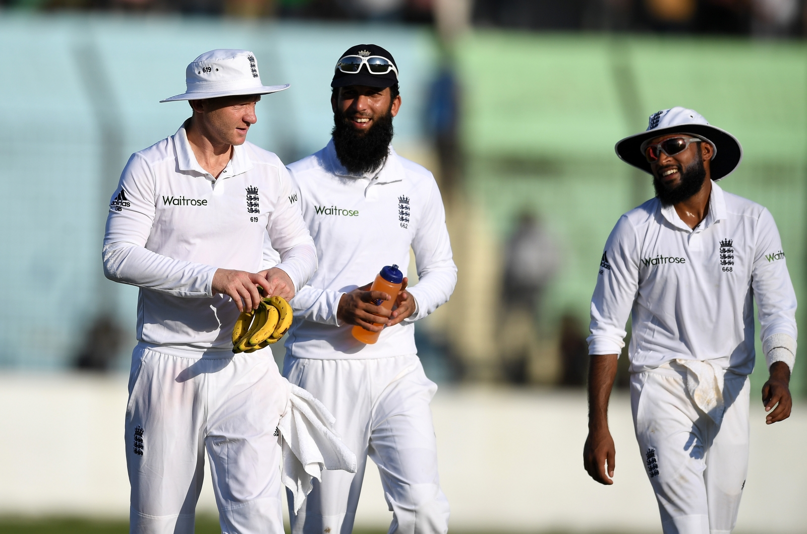 Gareth Batty, Moeen Ali and Adil Rashid