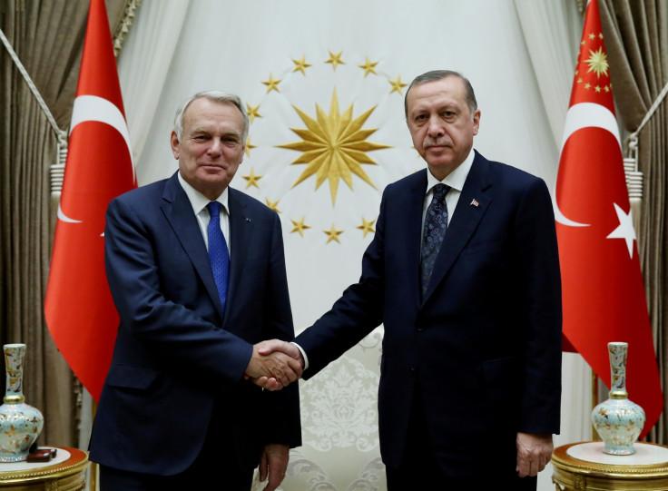 Jean-Marc Ayrault and Tayyip Erdogan