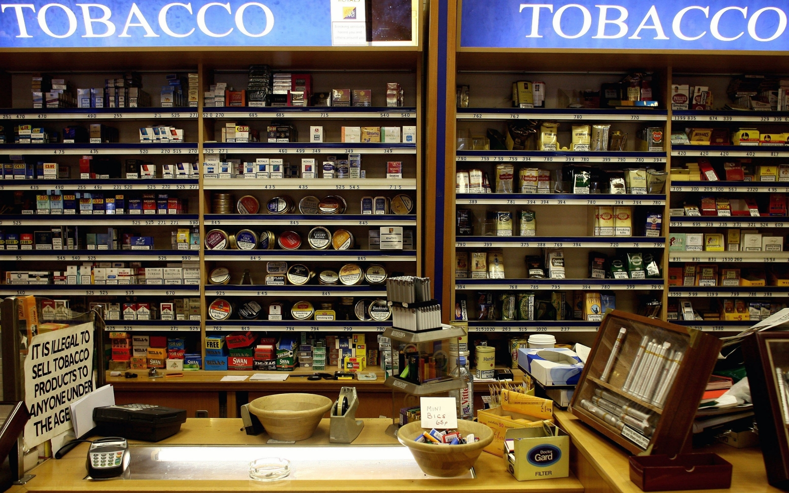 Tobacconists, estate agents and jewellers rise as across high streets as total UK store count falls at its fastest rate