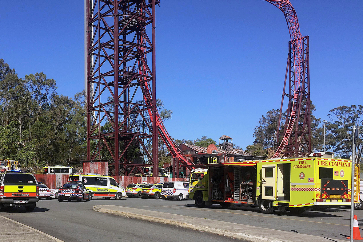 Crowds evacuated as four die on Dreamworld Australia park ride