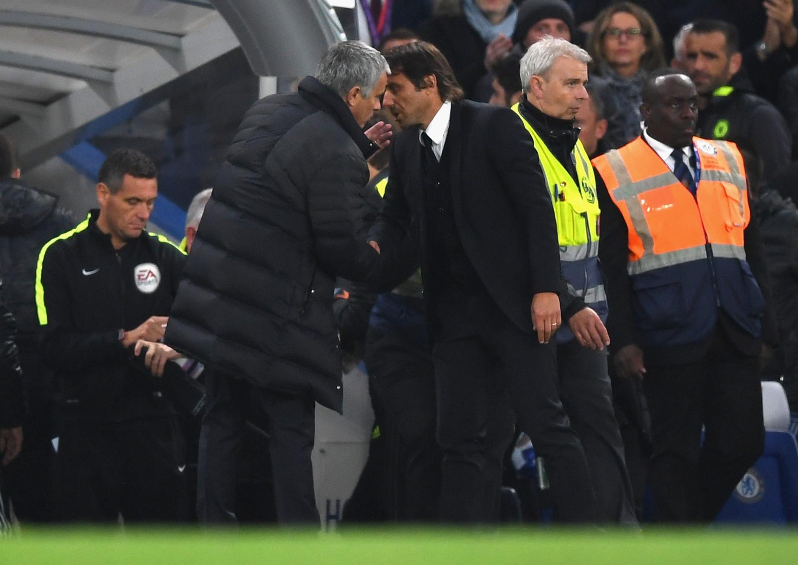 Jose Mourinho (left) and Antonio Conte