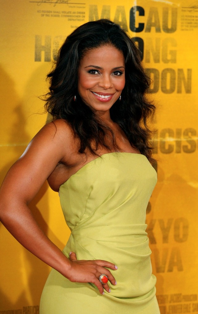 "Sanaa Lathan arrives at the premiere of ""Contagion"" in New York"