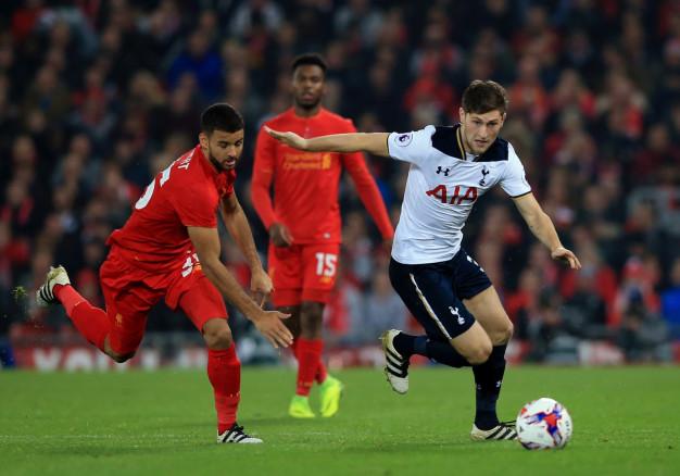 Ben Davies turns on the ball