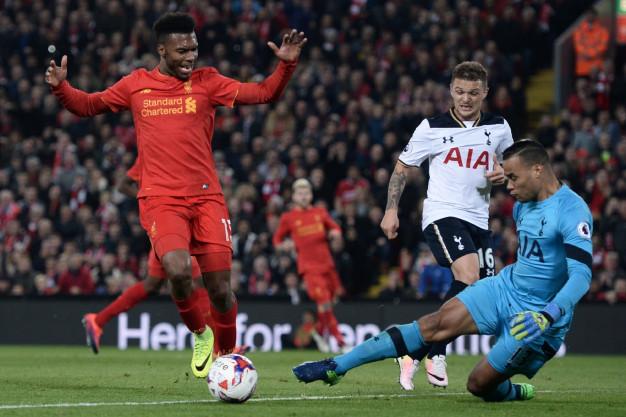 Daniel Sturridge looks for his second goal