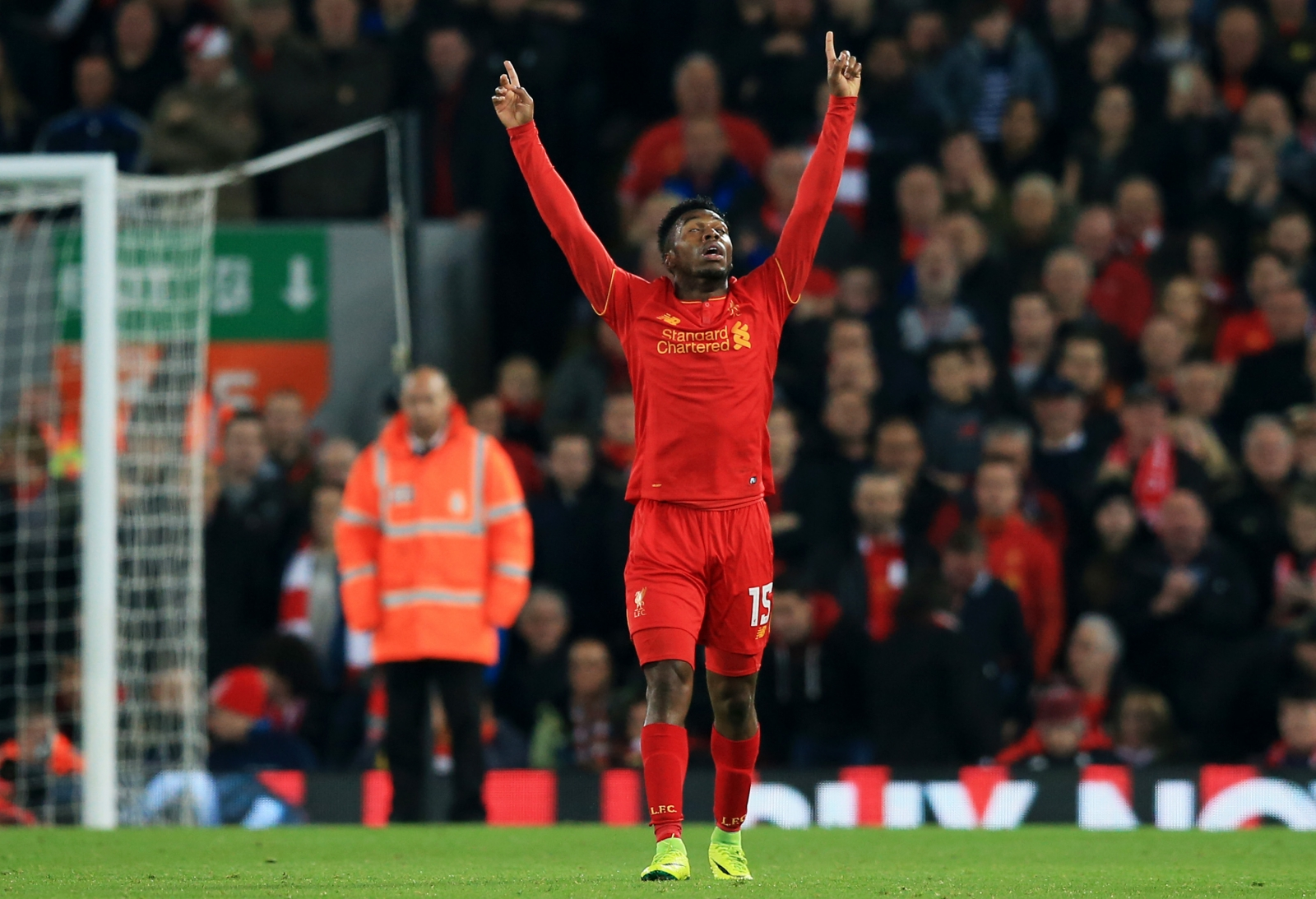 Daniel Sturridge celebrates his second goal