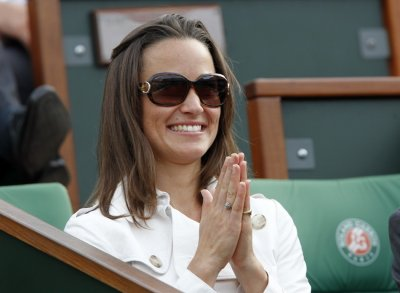 Pippa Middleton watches a match during the French Open tennis tournament at the Roland Garros stadium in Paris