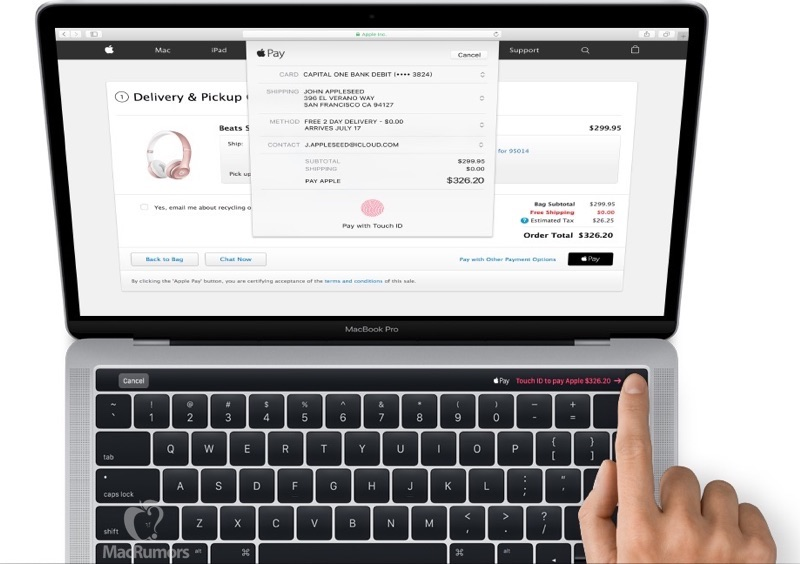 MacBook Pro Magic Toolbar leak