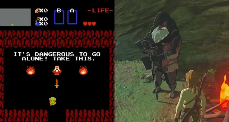 Legend of Zelda and Breath of the Wild comparison shots