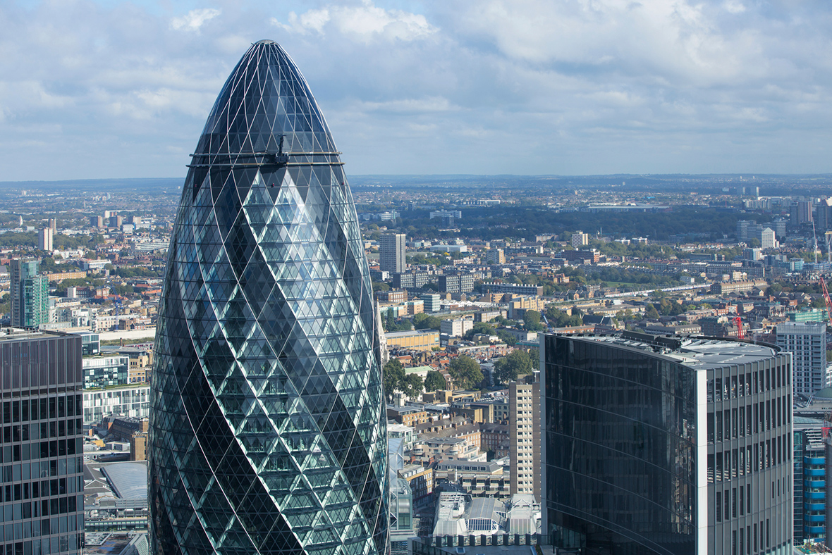 City Of London Evacuated Around The Gherkin Over