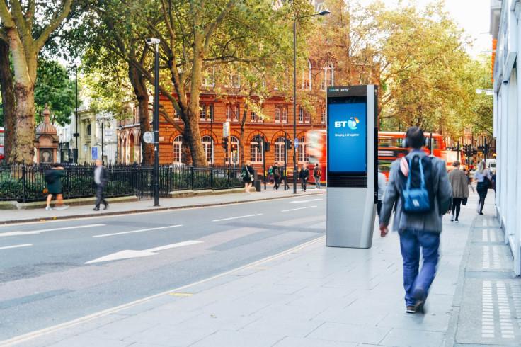 LinkUK booth mockup in London