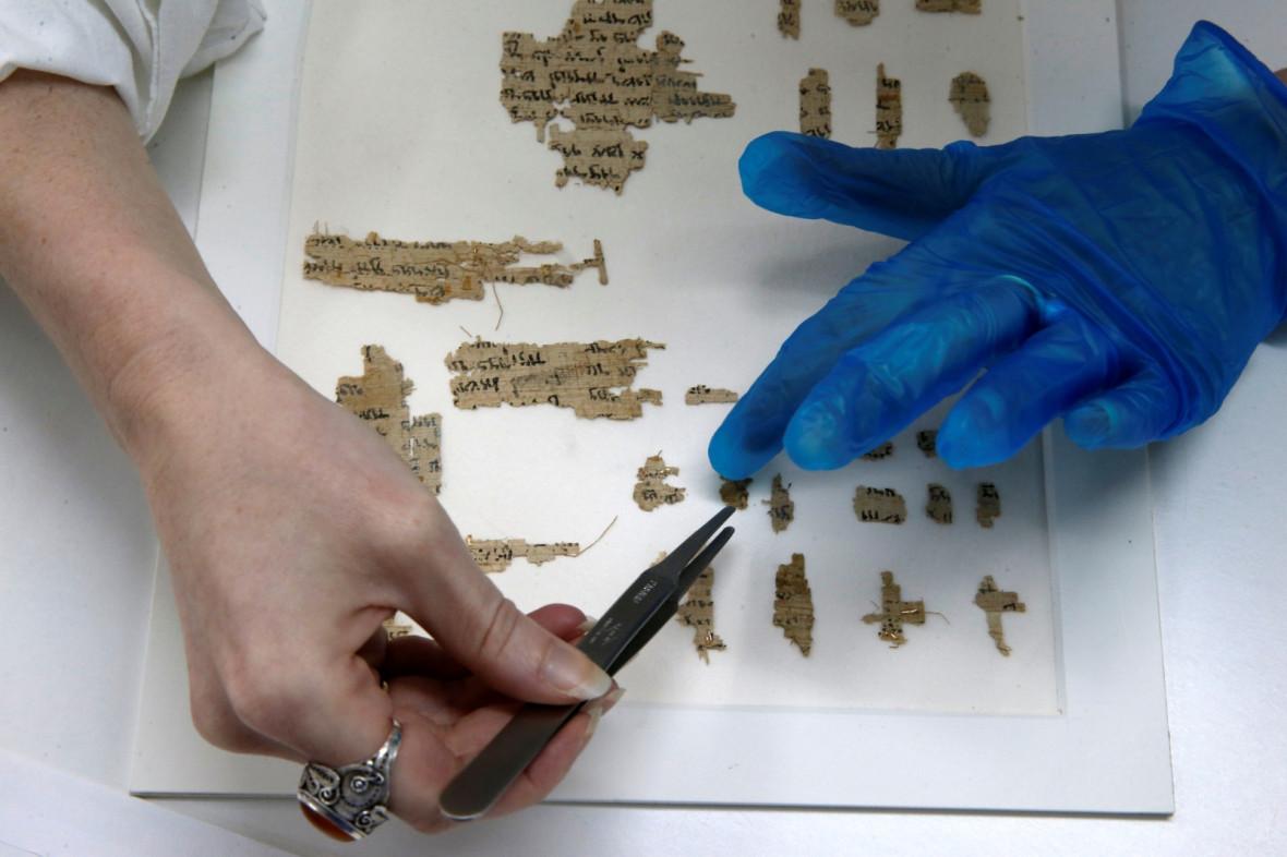 Ancient Hebrew papyrus