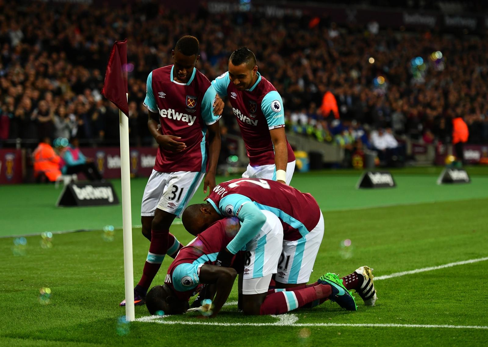West Ham celebrate their goal