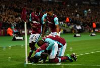 West Ham celebrate their goal