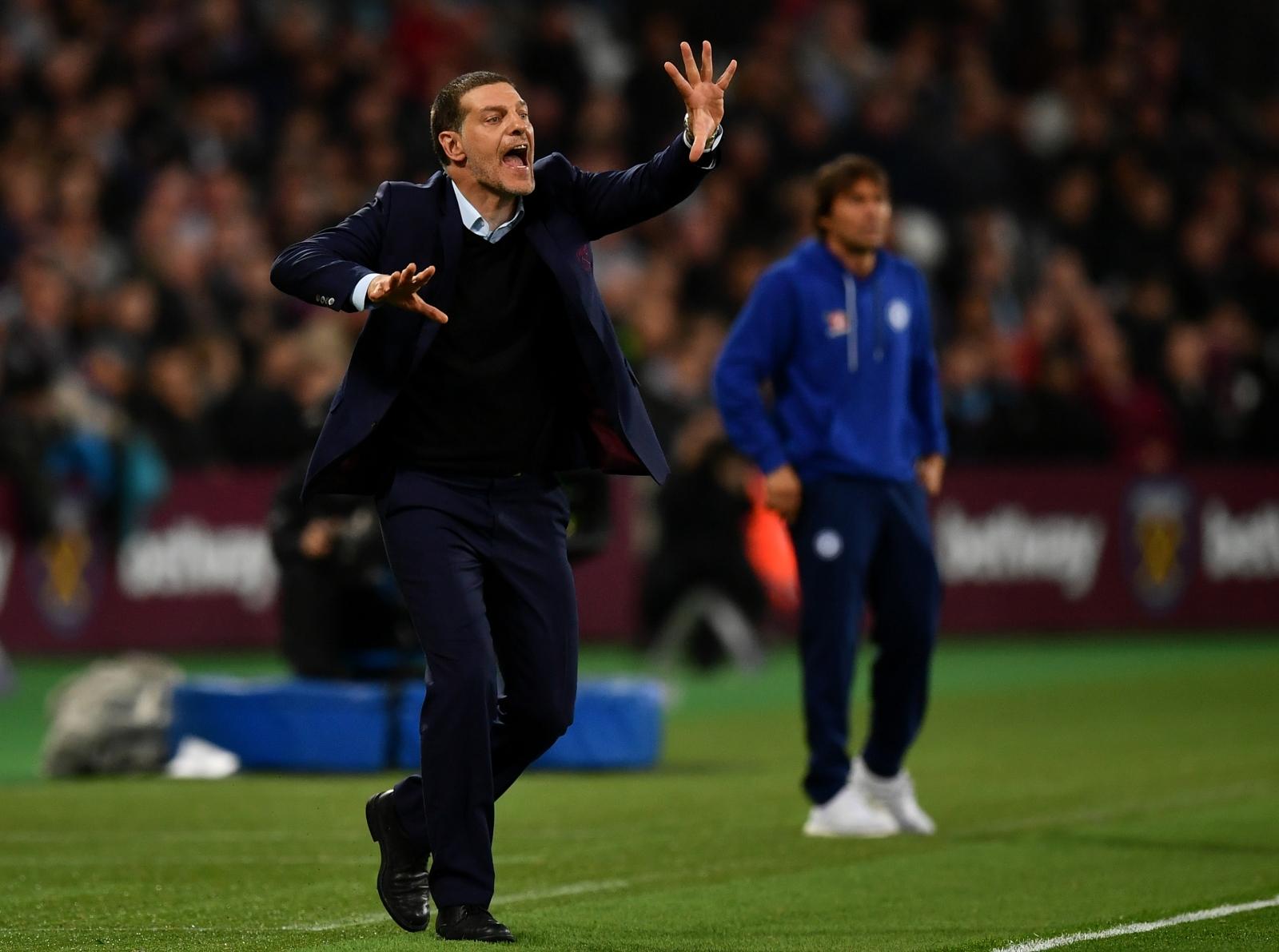 Slaven Bilic screams at his players