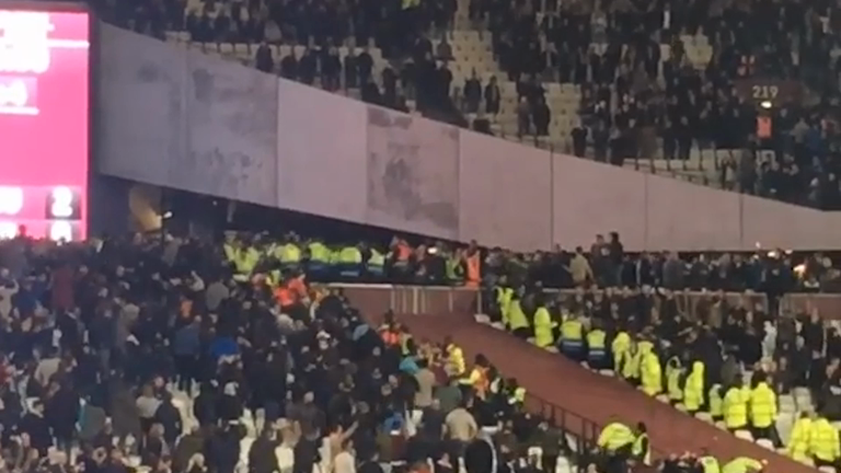 Violent clashes erupt at West Ham vs Chelsea derby