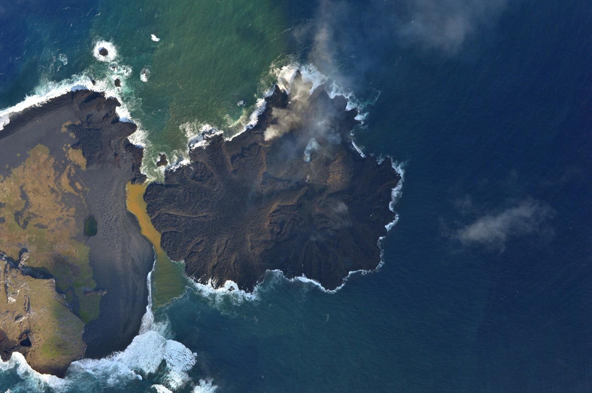 Niijima Nishinoshima Japan volcanic island