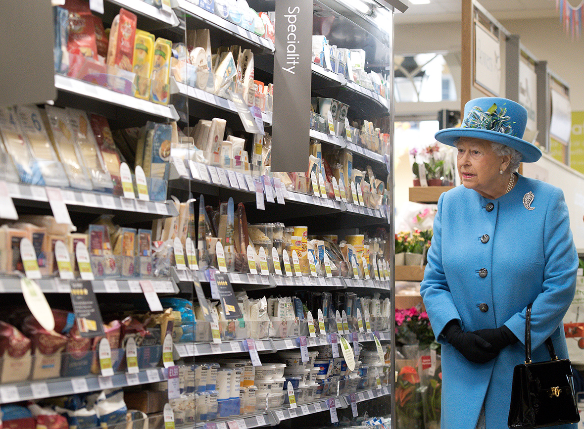 Queen at Waitrose