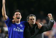 Frank Lampard (left) and Jose Mourinho