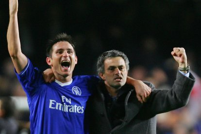 Frank Lampard (left) and Jose Mourinho