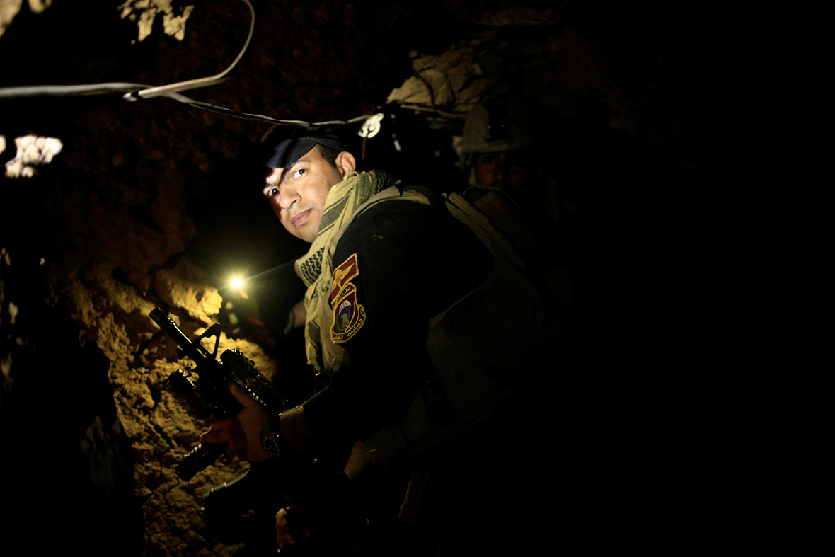 Mosul offensive: Tunnels used by the Islamic State ...