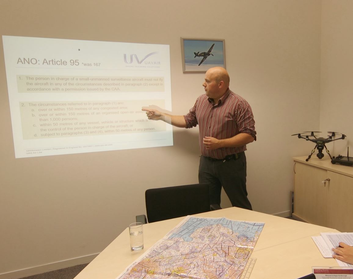 Drone theory training session