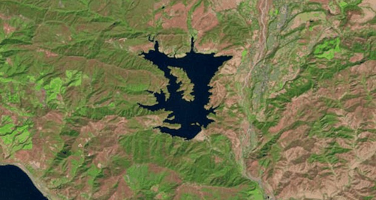 California drought reservoirs Lakepedia