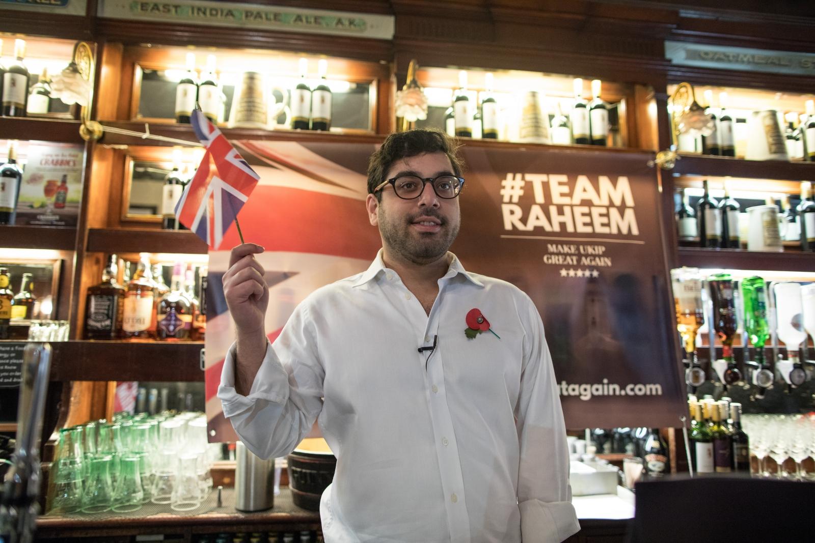 Raheem Kassam announces Ukip leadership bid