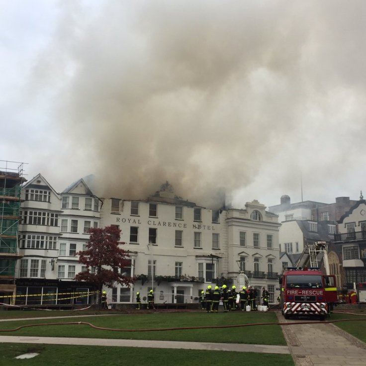 Royal clarence Hotel blaze