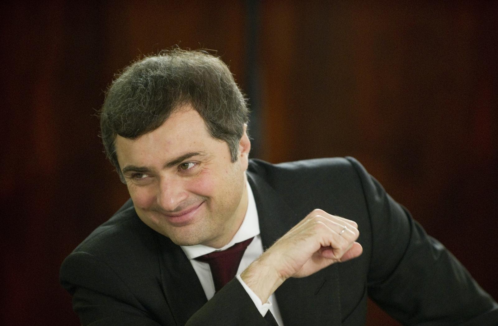 Vladislave Surkov smiles